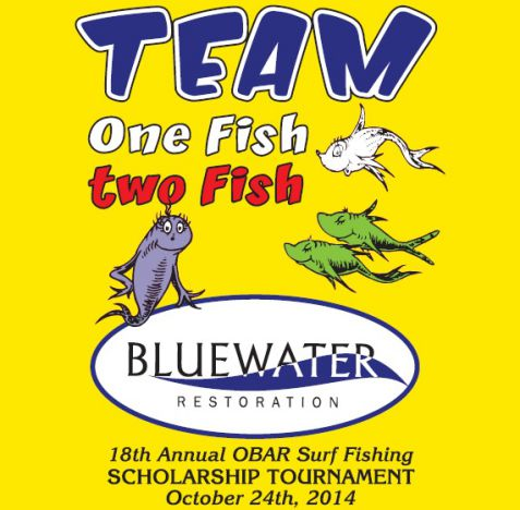 Bluewater Restoration Team One Fish Two Fish at OBAR Surf Fishing Tournament
